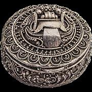 Round Filigree Pill Box Sterling Silver