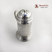 Vintage Sugar Shaker Ellmore Silver Co Sterling Silver 1940