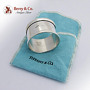 Tiffany And Co Plain Round Napkin Ring Sterling Silver