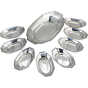 King Albert Nut Dish 8 Nut Cups Set Gorham Sterling Silver 1919