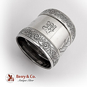 Aesthetic Engraved Arabesque Napkin Ring Gorham Sterling Silver 1885