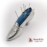 Vintage Shoe Pin Cushion Gorham Sterling Silver 1900