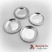 Vintage Gadrooned Nut Cups Set Dunkirk Sterling Silver 1950