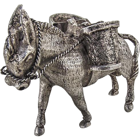 Mexican Donkey Figurine Sterling Silver From Berrycom Com