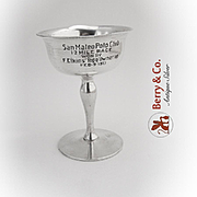 Vintage Polo Trophy Goblet Shreve Treat And Eacret Sterling Silver
