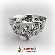 Dogwood Bird Bowl Maker Wing Fat Chinese Export Silver