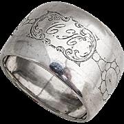 Dutch Engraved Large Napkin Ring 833 Standard Silver 1920