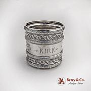 Aesthetic Palmette Arabesque Napkin Ring Gorham Sterling Silver 1884