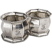 Beaded Double Waisted Napkin Ring Reed And Barton Sterling Silver