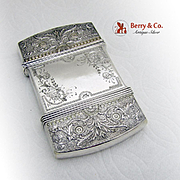 Aesthetic Ornate Calling Card Case Whiting Sterling Silver 1880