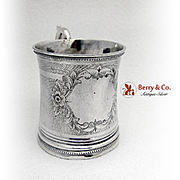 Engine Turned Engraved Childs Cup George Mac Pherson Coin Silver 1850