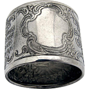 Little Miss Muffet Napkin Ring Blackinton Sterling Silver