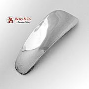 Vintage Plain Shoe Horn Blackinton Sterling Silver 1940