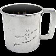 Vintage Cup Mug Rectangular Handle Watrous Sterling Silver