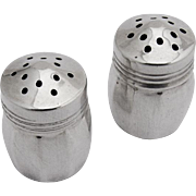 Small Individual Salt Pepper Shakers Sterling Silver Original Box