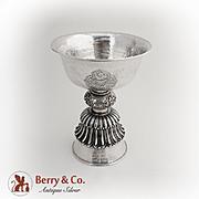 Vintage Asian Chalice Goblet Sterling Silver 1930