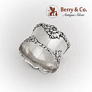 Vintage Floral Napkin Ring No Mono Sterling Silver