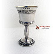 Danish Silver Liquor Cup Gilt Interior Copenhagen 1844