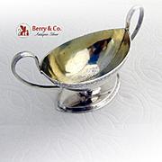 German Oval Pedestal Salt Dish Gilt Interior 813 Standard Silver 1766