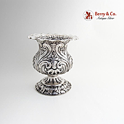 Indonesian Foliate Shell Scroll Footed Vase 800 Standard Silver 1940