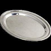 Vintage American Plain Oval Dresser Tray Sterling Silver 1940
