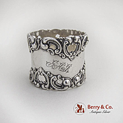 Heart Scroll Openwork Napkin Ring Frank M Whiting Sterling Silver 1900