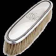 Vintage Beaded Clothes Brush Webster Sterling Silver 1920