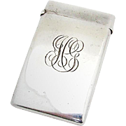 Vintage Calling Card Case Curved American Sterling Silver 1900
