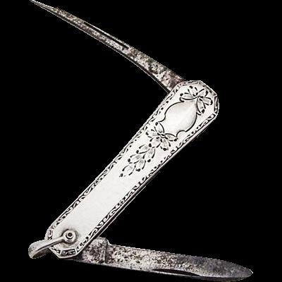 engraved folding pocket knife steel blades