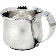 Hand Made Baby Cup Porter Blanchard Sterling Silver 1940