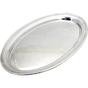 Vintage Plain Oval Tray Gorham Sterling Silver 1955