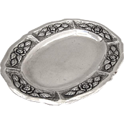 Ornate Oval Dresser Tray Sanborns Sterling Silver Mexico 1960