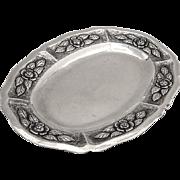 Ornate Oval Dresser Tray Sanborns Sterling Silver Mexico 1960