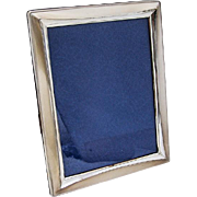 Vintage Large Rectangular Picture Frame Italian 800 Silver
