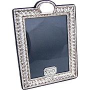 Modernist English Small Picture Frame Sterling Silver Sheffield 1991