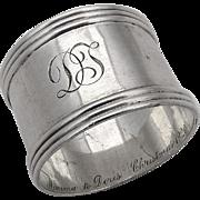 Vintage Triple Banded Napkin Ring J F Fradley Sterling Silver 1910