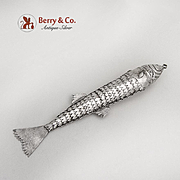 Figural Articulated Fish Pendant Ornament Sterling Silver
