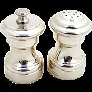 Vintage Salt Shaker Pepper Grinder Set Empire Sterling Silver 1950