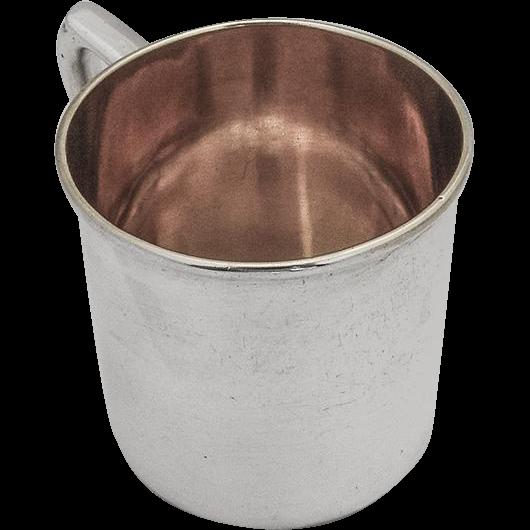 Vintage Baby Cup Gilt Interior No Mono Watrous Mfg Co