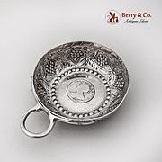 Antique Grape Repousse Taste Vin Wine Tasting Cup Sterling Silver 1790