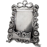 Ornate Repousse Calling Card Holder Ferdinand Fuchs Bros Sterling Silver 1885