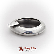 Retro Individual Ash Tray Japanese 950 Sterling Silver 1955