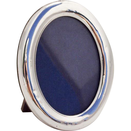 Modernist Small Oval Picture Frame Italian 800 Standard