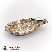 Aesthetic Olive Dish Shell Form Gilt Sterling Silver Wood And Hughes