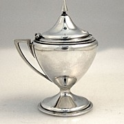 Neo Classical Coin Silver Mustard Pot Gorham 1865