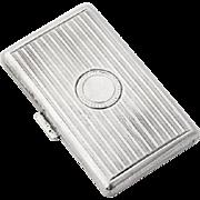 Edwardian Cigarette Case Gilt Interior Continental Silver 1920