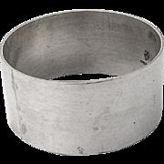 Vintage Round Plain Design Napkin Ring Sterling Silver