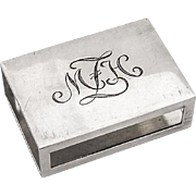 Tiffany Co Match Box Cover Engraved Monogram Sterling Silver