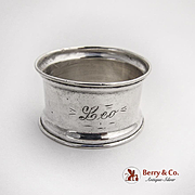 Small Napkin Ring Flared Rims Sterling Silver 1925