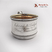 Beaded Baby Cup Gilt Interior Towle Sterling Silver 1905